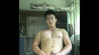 asian glasses cute muscle